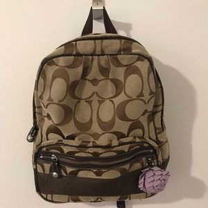Coach signature fabric backpack